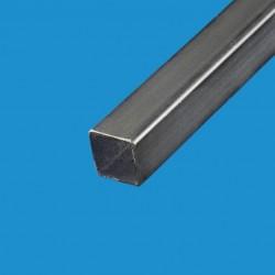 Tube carré acier noir 25mm