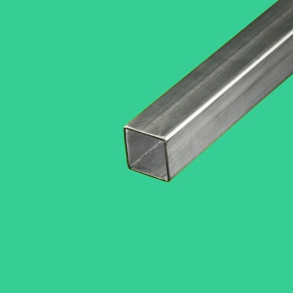 Tube inox brossé carré 40x40 mm