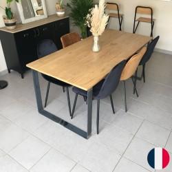 pieds de table métallique rectangle