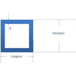 Tube carré acier 16 x 16